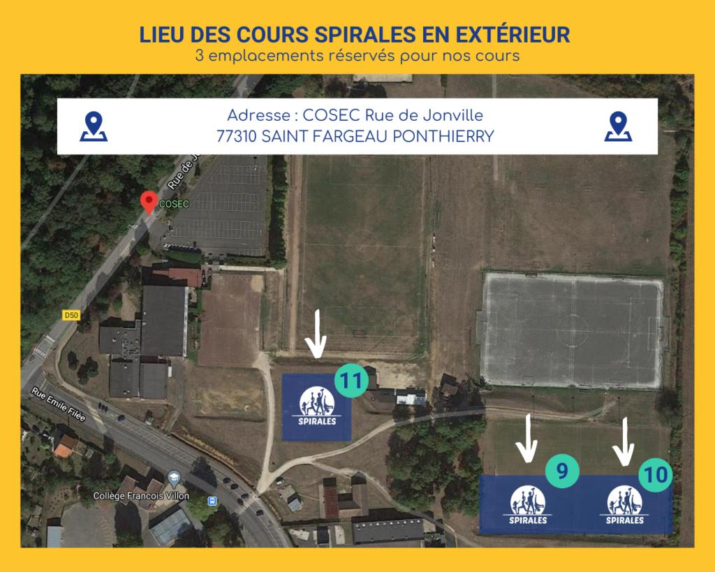 Spirales : adresse et localisation des cours en extérieur à partir du 10 avril